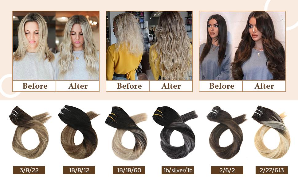 hair extensions clip in hair