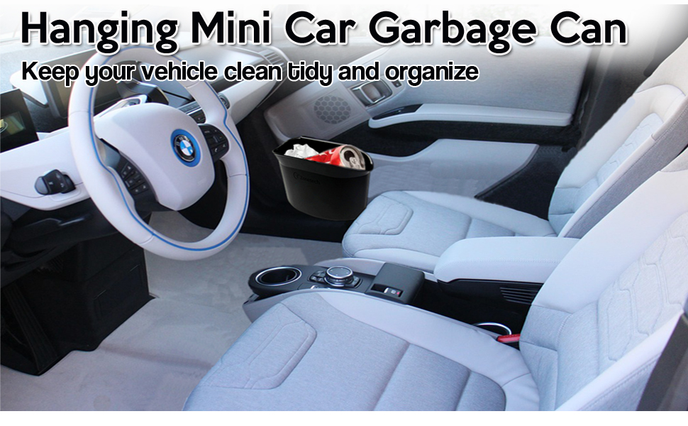 car garbage can