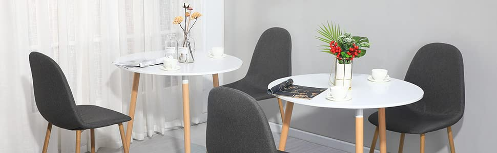 white dining table round