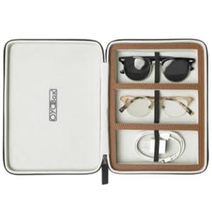 brown travel case
