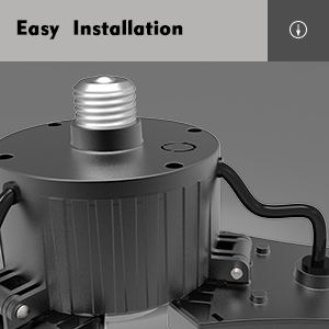 E26/E27 Base, Easy Installation