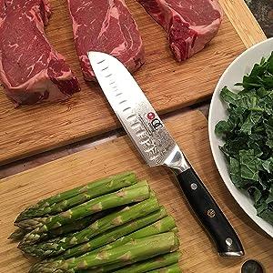 japanese santoku 7 inch damascus steel oxford chef