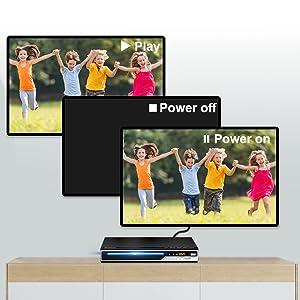Gueray Reproductor DVD HDMI para Televisión Portátil Reproductor de DVD de Toda la región con resolución HD 1080P con USB Mic Puerto y Control Remoto (No es Compatible con BLU-Ray Disc): Amazon.es: