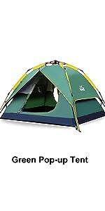 hewolf Automatiska pop-up tält 3-4 personer omedelbart campingtält