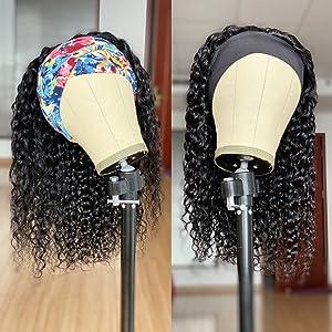 water wave headband wigs for black women