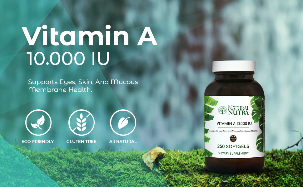 Natural Nutra Vitamin A Dietary Supplement from Cod Liver Oil