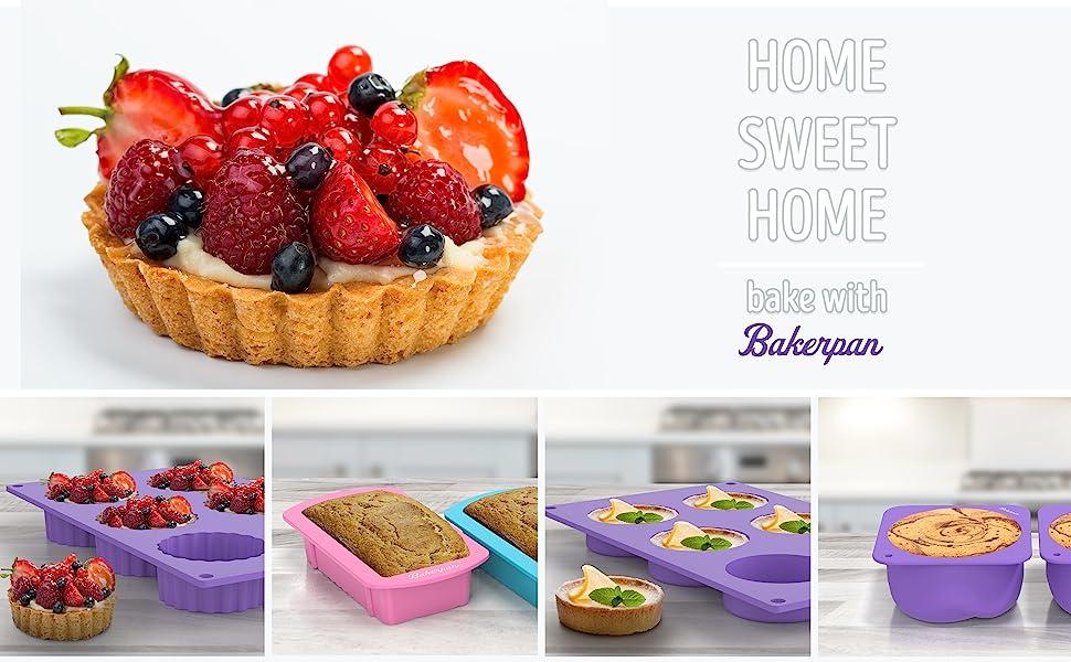 Bakerpan baking silicone pie cake pan heart