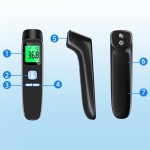 termómetro infrarrojo termómetro termómetro digital termómetro infrarrojo sin contacto