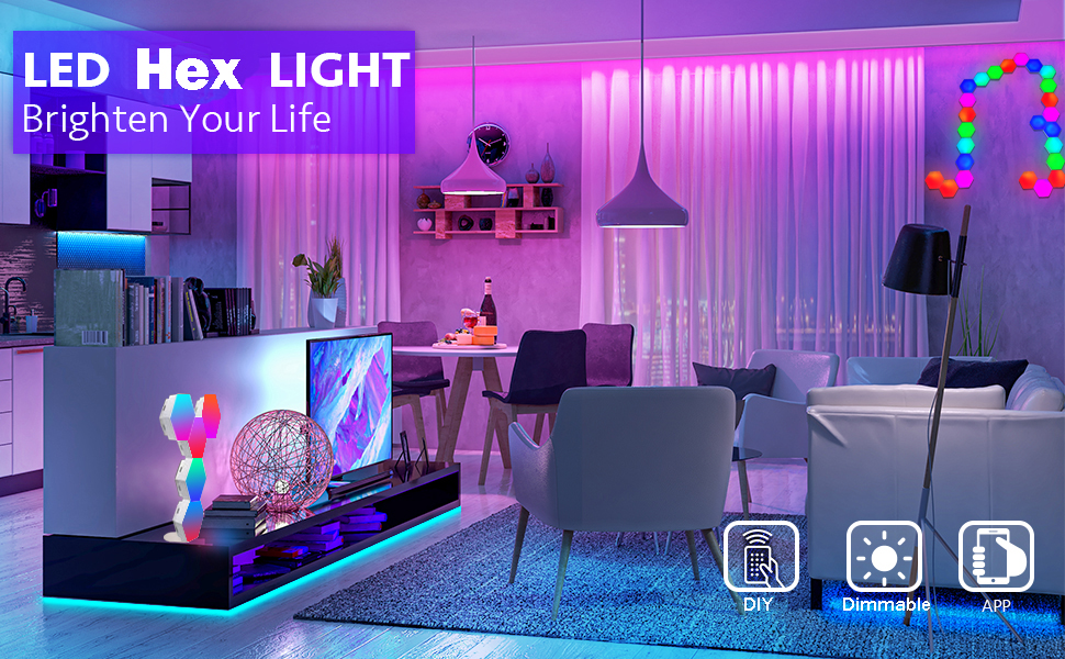 colorful lights for bedroom
