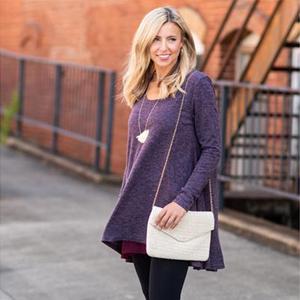 women long sleeve tunic top