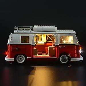 Lightailing Licht Set Für Volkswagen T1 Campingbus Modell Led Licht Set Kompatibel Mit Lego 10220 Modell Nicht Enthalten Spielzeug