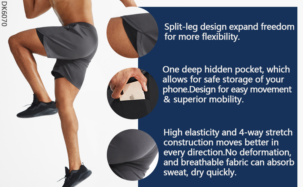 The workout shorts with elastic