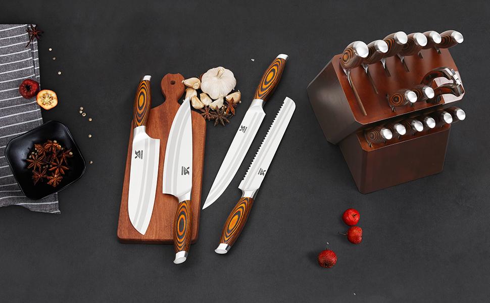 kitchen knife set sharp knives set knives steel bread knife chef knife nakiri knife santoku knife