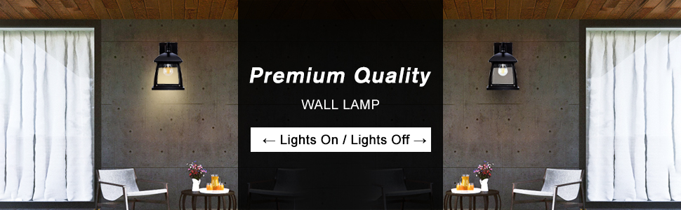 black wall sconce