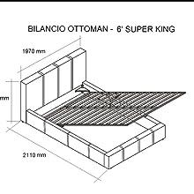 Ottoman Storage King Size Bed