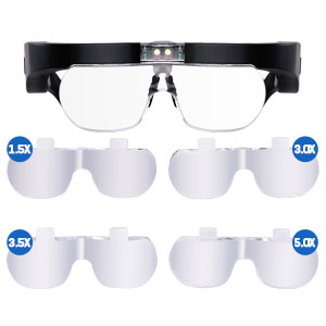 4 Extended and Ultra-high Interchangeable Magnifying Lenses