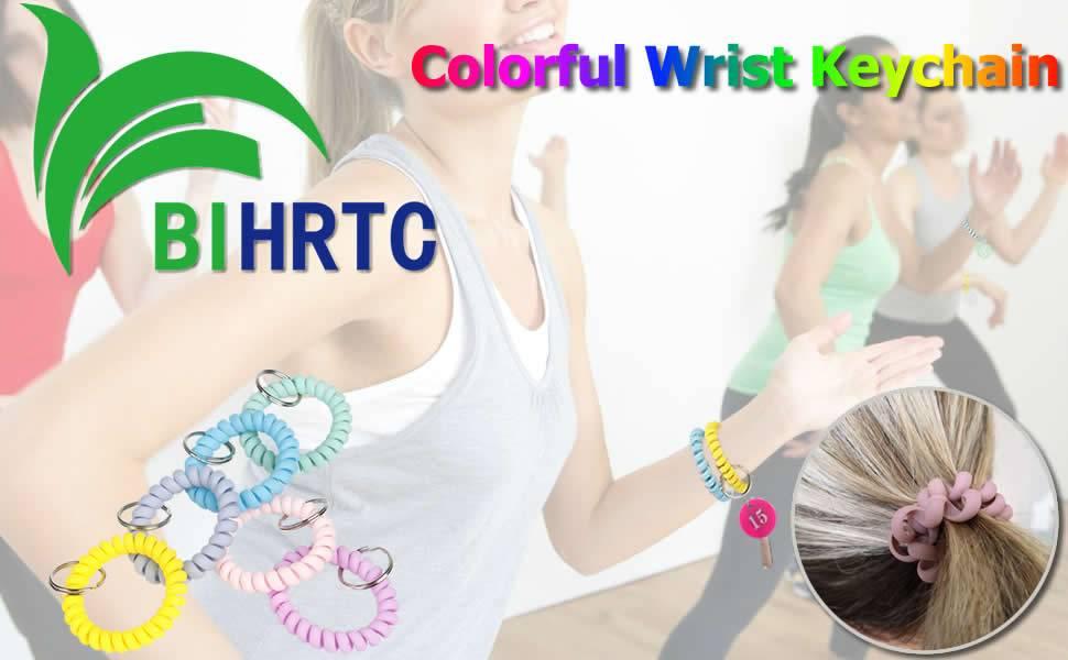 BIHRTC Plastic Wrist Keychain  Coil