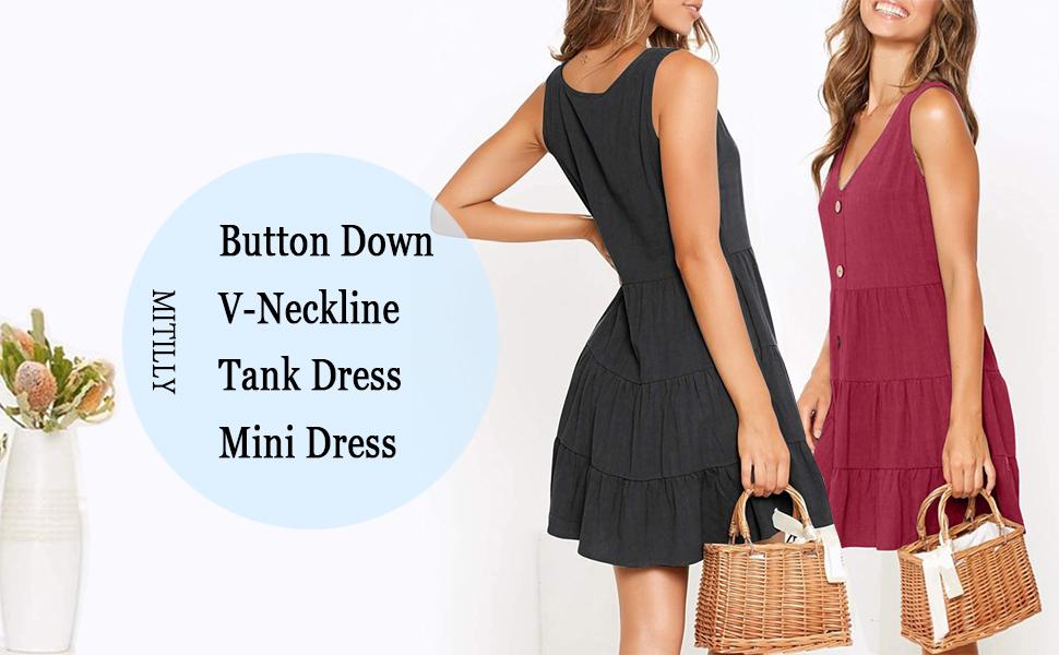 A line swing dress
