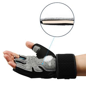 LOHOTEK Gepolsterte Fitness Handschuhe Trainingshandschuhe Unisex-Gewichtheberhandschuhe Arbeitshandschuhe mit Handgelenkst/ütze f/ür das Fitness-Studio im Freien