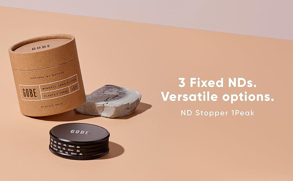 Lens filter, lens filter kit, filter kit, nd kit, nd filter, gobe nd filter