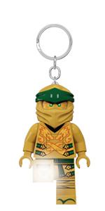 LEGO Ninjago Legacy Gold Ninja Minifigure Key Light keychain