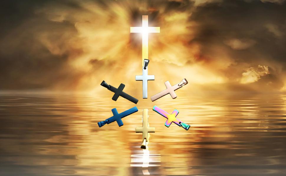 Collar de cruz para uso diario.