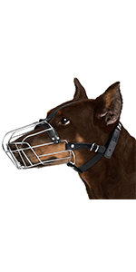metal dog muzzle doberman wire large metal steel