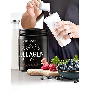 huidverschijning artrose eiwitpoeder cellulitis schudden voedsel supplementen colageen collega's