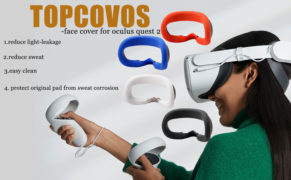 Topcovos face cover for oculus quest 2
