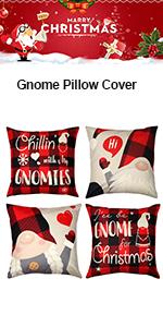 Gnome Christmas Pillow Case