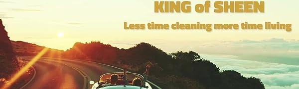 King Of Glanz Außen Car Care Kit Autopflegeset Adv Ultra Nano Eco Wasserlos Autowasche 1 L Universal Rad Cleaner 500ml Und Eco Reifen Glanz 500ml 2 Profi Auto Mikrofasertücher Und Reifenschwamm Amazon De