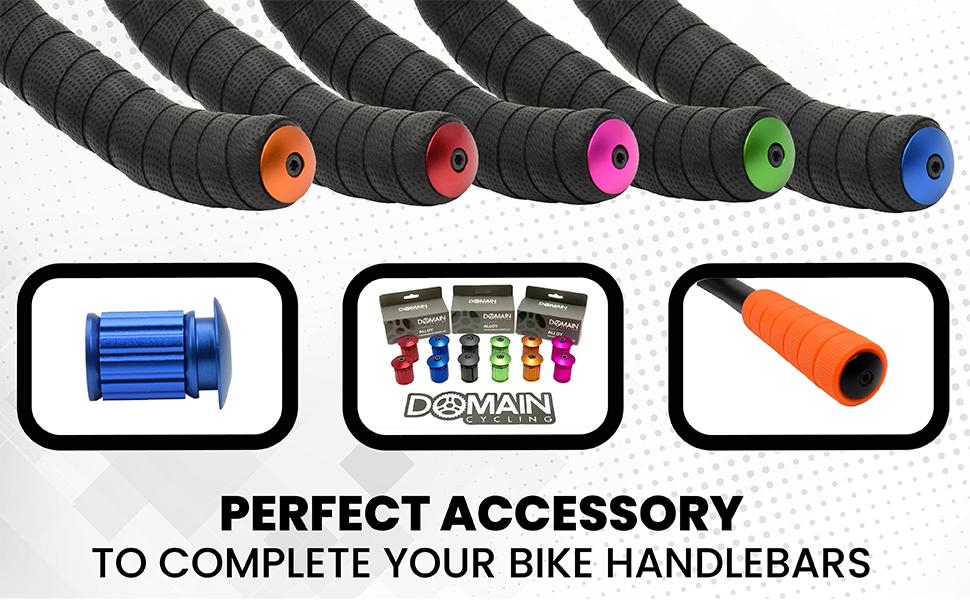 1 Pair Cycle Road Bike Handlebar End Lock-On Plugs Bar Grips Caps Covers GF KL~