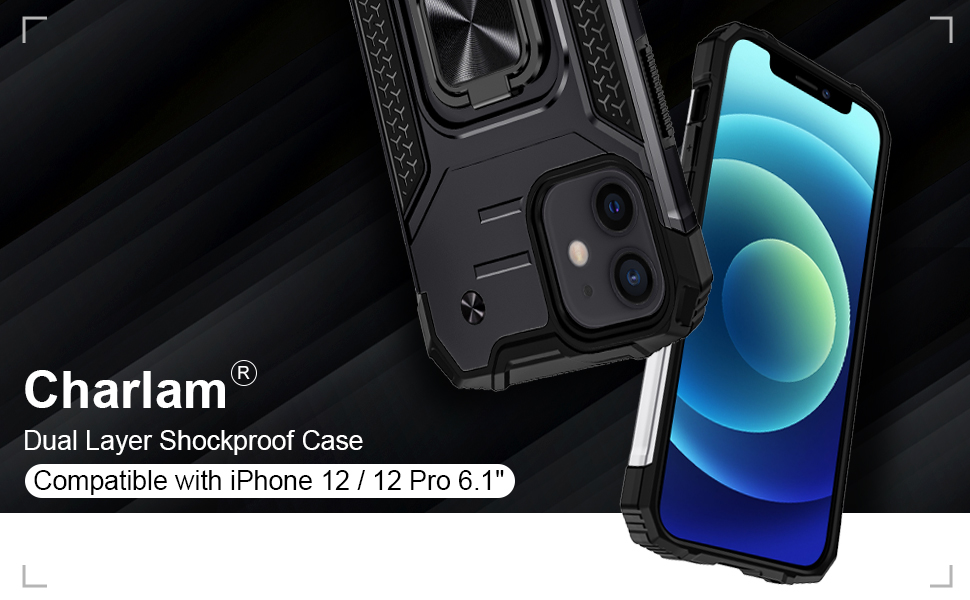 """Charlam Compatible with iPhone 12 Case Compatible with iPhone 12 Pro Case 6.1"""""""