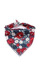 flower dog bandan