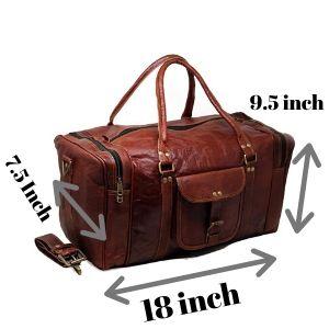 "23/"" Pouces vintage en cuir de Voyage Nuit Duffel Hommes Sac En Cuir Voyage Bag-7"
