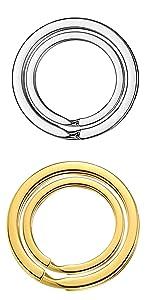 key chain rings silver&golden