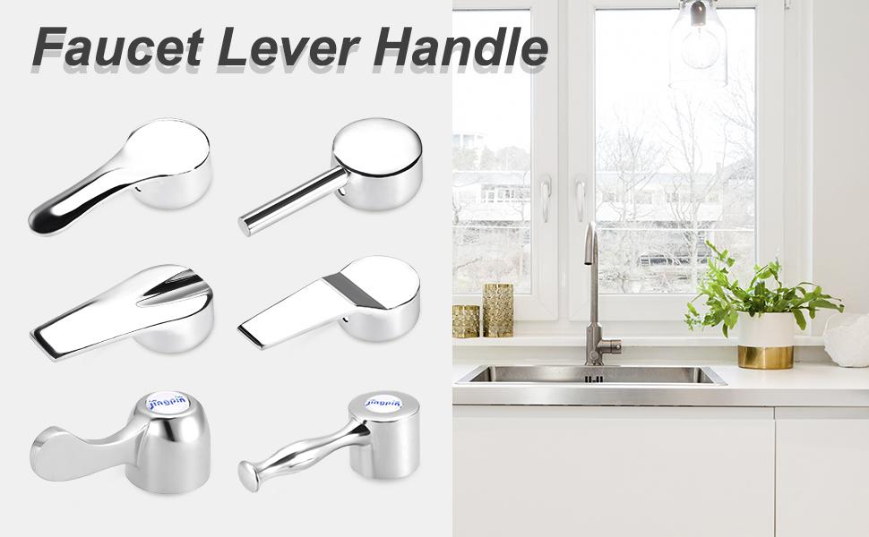 Faucet Lever Handle 29mm Dia Universal Single Lever Handle Replacement 2 Pcs