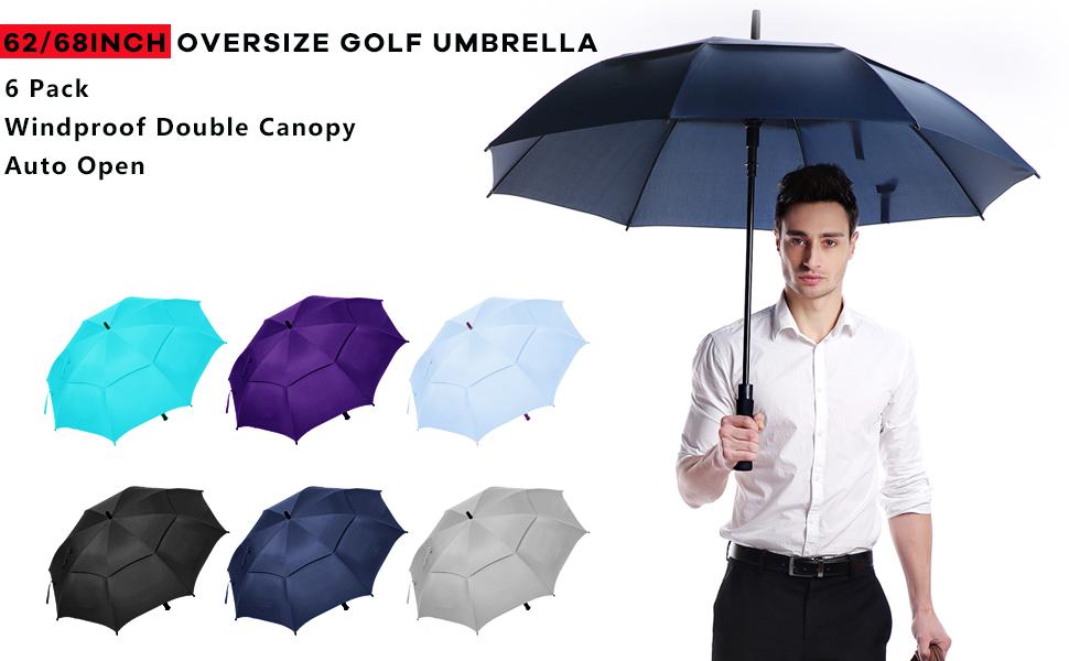 6 pack golf umbrella