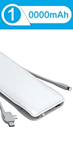 portable phone charger with cable