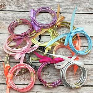 boho multi layer bangle sliver bracelet all weather bangles fashion trend new Christmas bracelet