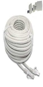 60ft white  with waterproof connector