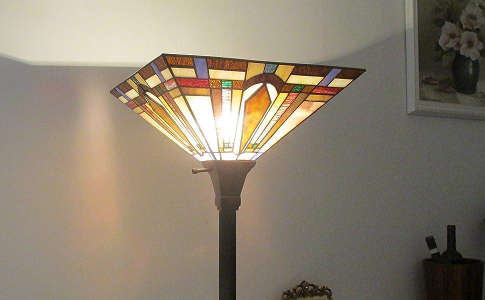 DOCHEER Tiffany floor lamp