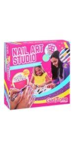 nail art studio set kit ongles manucure 3 4 5 6 7 cadeau pour filles anniversaire décoration loisir
