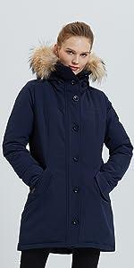 fur collar jacket for women