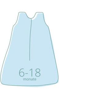 Ganzjahres Baby-Schlafsack 80 cm 0 bis 6 Monate 2.5 TOG Superweich und warm molis/&co Premium-Musselin mit Futter. Unisex-Druck von grauem Blatt