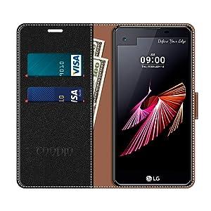 COODIO Funda LG X Screen con Tapa, Funda Movil LG X Screen, Funda ...