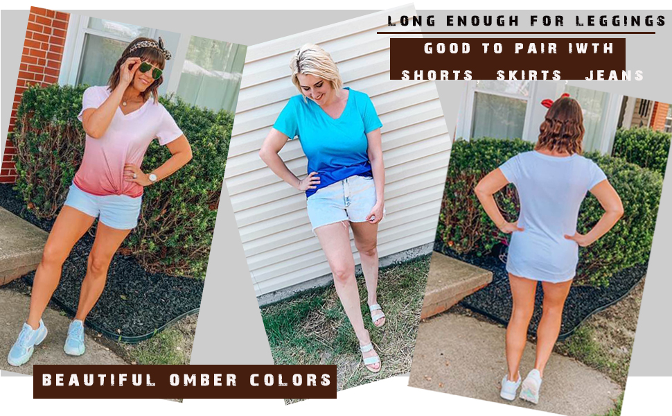 womens ombre t shirts