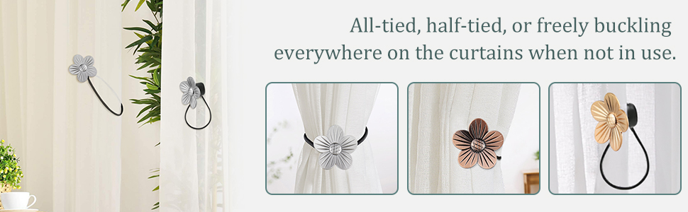 strong magnetic curtain tiebacks