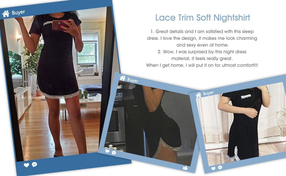 Nachthemd Damen Sexy Nachtshirt Kurzarm Pyjama Sleepshirt Kurz nachthemd Nachthemd Damen Tie Dye