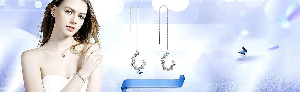 feather studs earrings for women tiny earrings